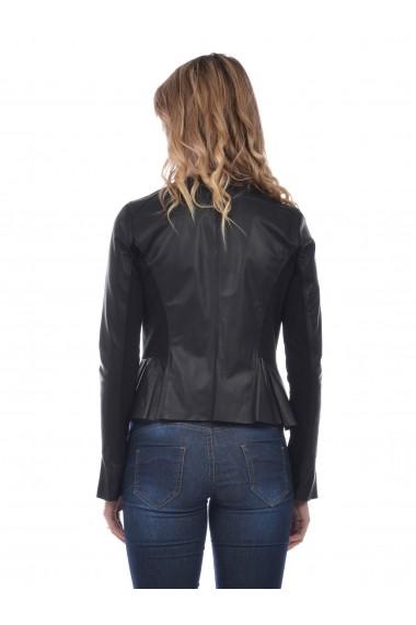 Jacheta din piele L.Y.N.N by Carla Ferreri SS19 LYNN CF 6218L81 Negru