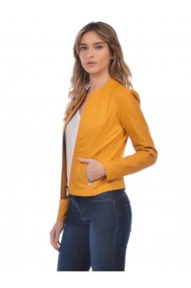 Jacheta din piele L.Y.N.N by Carla Ferreri SS19 LYNN CF 6387L3 Verde