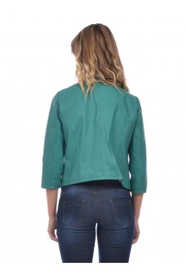 Jacheta din piele L.Y.N.N by Carla Ferreri SS19 LYNN CF 6218L90 Verde