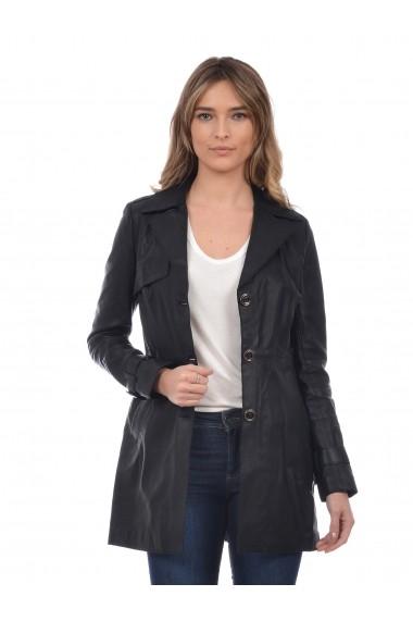 Jacheta din piele L.Y.N.N by Carla Ferreri SS19 LYNN CF 8820L02 Negru