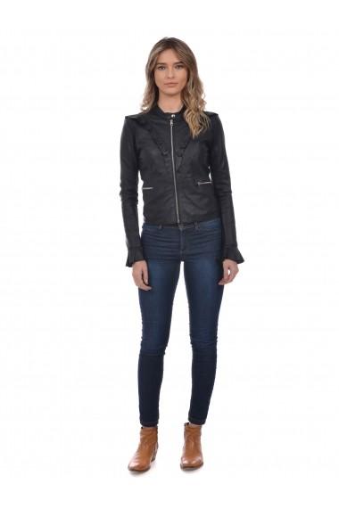 Jacheta din piele L.Y.N.N by Carla Ferreri SS19 LYNN CF 5918L19 Negru