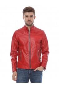 Jacheta din piele Mangotti SS19 MJ 1611 Rosu