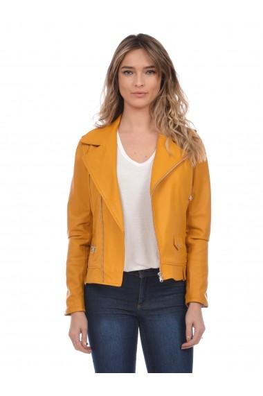 Jacheta din piele Mangotti SS19 MJ 7918M33 Verde