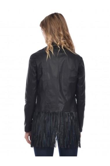 Jacheta din piele Mangotti SS19 MJ 7618M75B Negru