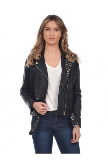 Jacheta din piele Mangotti SS19 MJ 8218M53B Negru