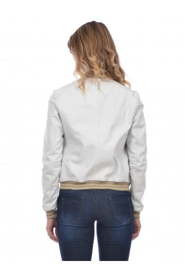 Jacheta din piele Mangotti SS19 MJ 6910M13 Alb