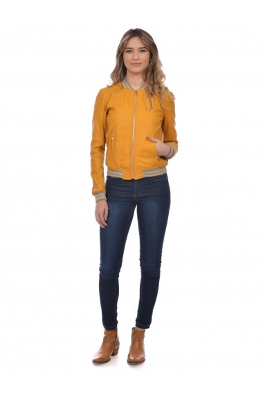 Jacheta din piele Mangotti SS19 MJ 6910M13 Verde