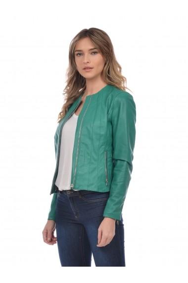 Jacheta din piele Mangotti SS19 MJ 7618M87 Verde