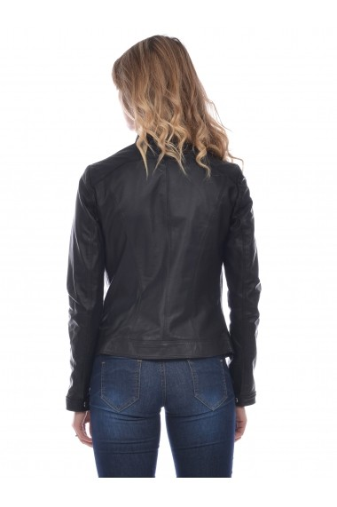 Jacheta din piele Mangotti SS19 MJ 7518M66 Negru