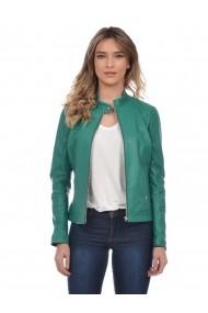 Jacheta din piele Mangotti SS19 MJ 7518M66 Verde - els