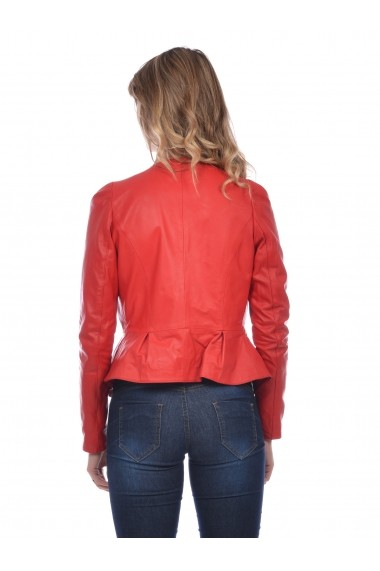 Jacheta din piele Mangotti SS19 MJ 7520M37 Rosu