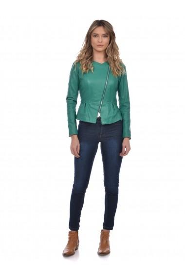 Jacheta din piele Mangotti SS19 MJ 7520M37 Verde