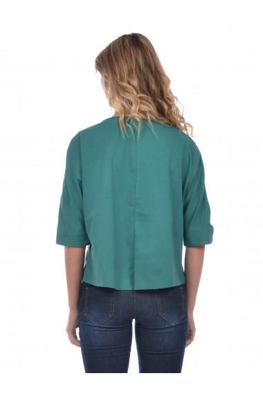 Jacheta din piele Mangotti SS19 MJ 5285M1 Verde