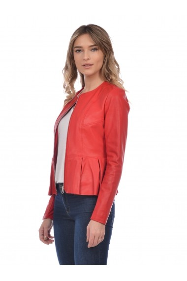 Jacheta din piele Mangotti SS19 MJ 6518M82 Rosu