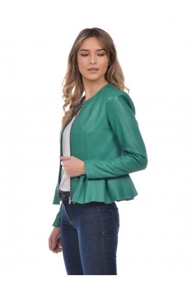 Jacheta din piele Mangotti SS19 MJ 6518M82 Verde