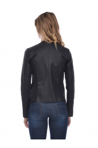 Jacheta din piele Mangotti SS19 MJ 6018M56 Negru