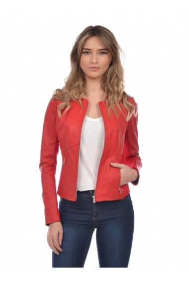 Jacheta din piele Mangotti SS19 MJ 6518M86 Rosu