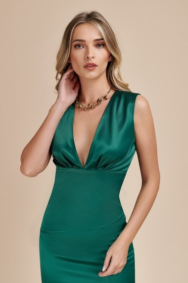 Rochie Eleganta tip Sirena Verde Sisi