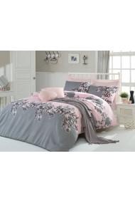 Set lenjerie de pat dublu Eponj Home 143EPJ1473 roz