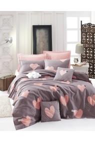 Cuvertura pat dublu EnLora Home 162ELR5264 roz