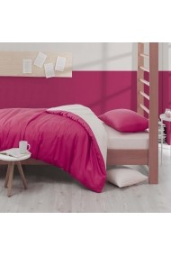 Set lenjerie de pat single EnLora Home 162ELR1328 Fucsia