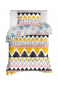 Set lenjerie de pat single EnLora Home 162ELR9511 Multicolor