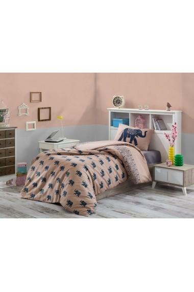 Set lenjerie de pat single EnLora Home 162ELR9507 Maro