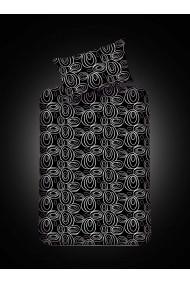Set lenjerie de pat EnLora Home 162ELR0515 negru