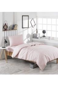 Set lenjerie de pat single EnLora Home 162ELR1311 roz