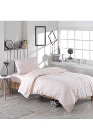Set lenjerie de pat single EnLora Home 162ELR1309 roz