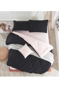 Set lenjerie de pat dublu EnLora Home 162ELR1454 negru