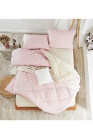 Set lenjerie de pat dublu EnLora Home 162ELR1436 roz