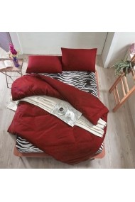 Set lenjerie de pat dublu EnLora Home 162ELR1451 rosu