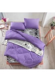 Set lenjerie de pat dublu EnLora Home 162ELR1446 violet