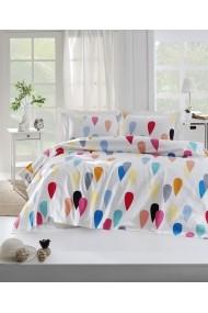 Set lenjerie de pat single EnLora Home 162ELR6182 multicolor