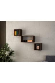 Set rafturi de perete Wooden Art 731WAT1614 Negru