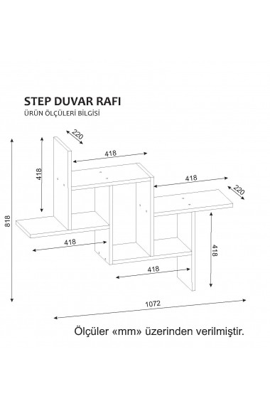 Etajera perete Wooden Art 731WAT1651 Alb