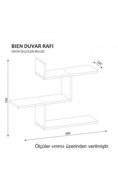 Etajera perete Wooden Art 731WAT1610 Alb