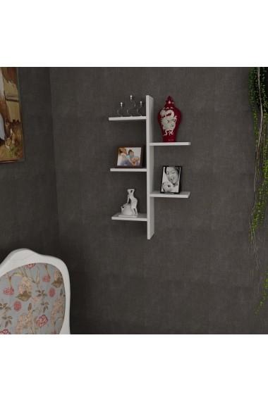 Raft de perete Wooden Art 731WAT1667 Alb