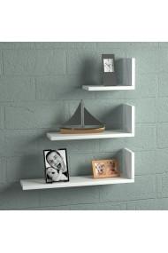 Set rafturi de perete Wooden Art 731WAT1606 Alb