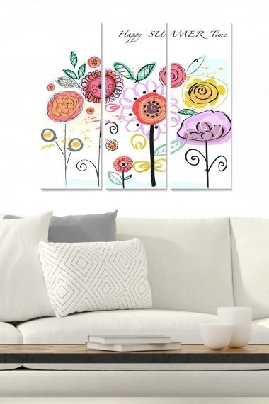 Tablou decorativ (set 3 piese) Bianca 553BNC2951 multicolor