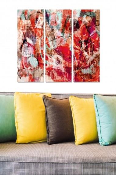 Tablou decorativ (set 3 piese) Bianca 553BNC2956 multicolor