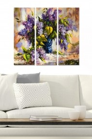 Tablou decorativ (set 3 piese) Bianca 553BNC2958 multicolor
