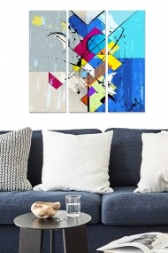 Tablou decorativ (set 3 piese) Bianca 553BNC2960 multicolor