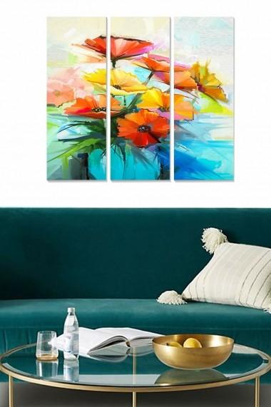 Tablou decorativ (set 3 piese) Bianca 553BNC2969 multicolor
