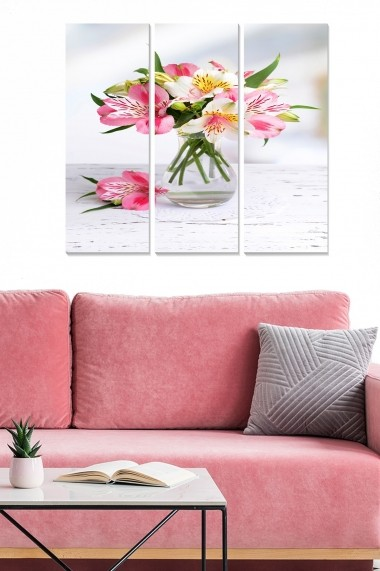 Tablou decorativ (set 3 piese) Bianca 553BNC2973 multicolor