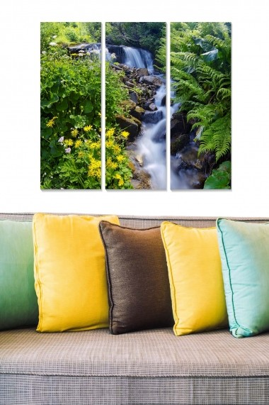 Tablou decorativ (set 3 piese) Bianca 553BNC2978 multicolor