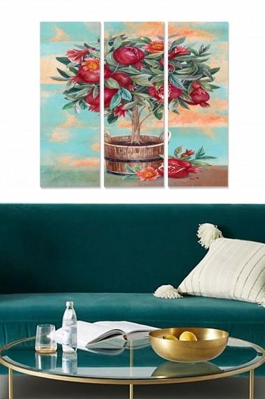 Tablou decorativ (set 3 piese) Bianca 553BNC2980 multicolor