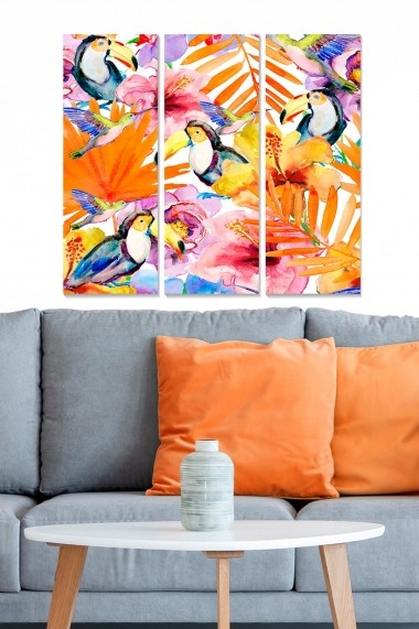 Tablou decorativ (set 3 piese) Bianca 553BNC2981 multicolor