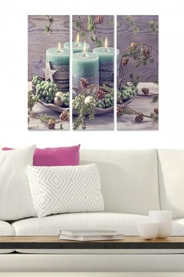Tablou decorativ (set 3 piese) Bianca 553BNC2982 multicolor